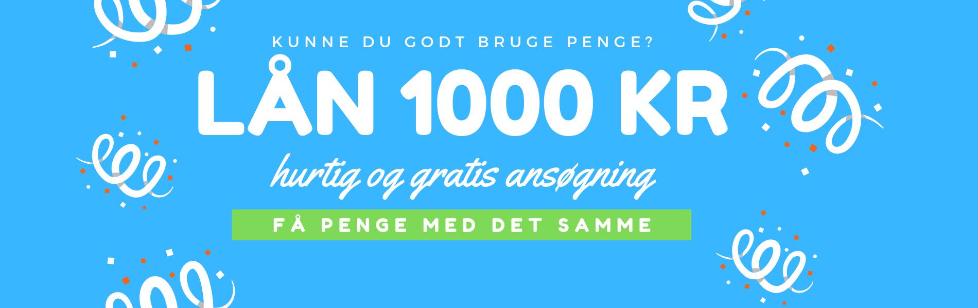 Lån 1000 kr online